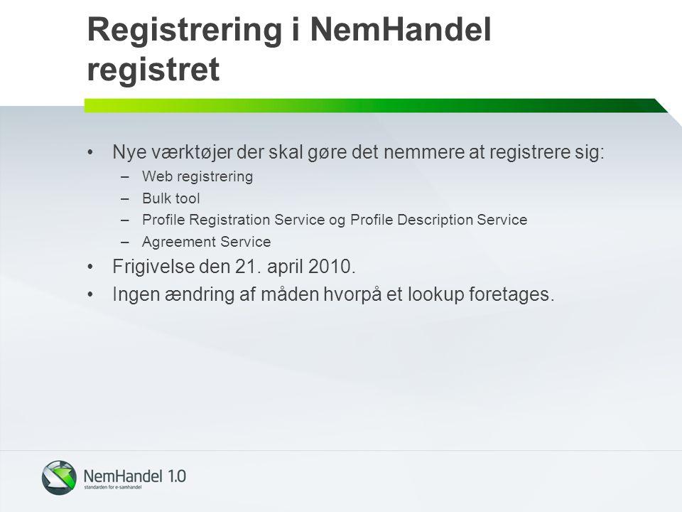 Registrering i NemHandel registret