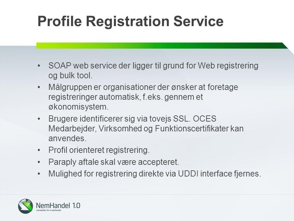 Profile Registration Service