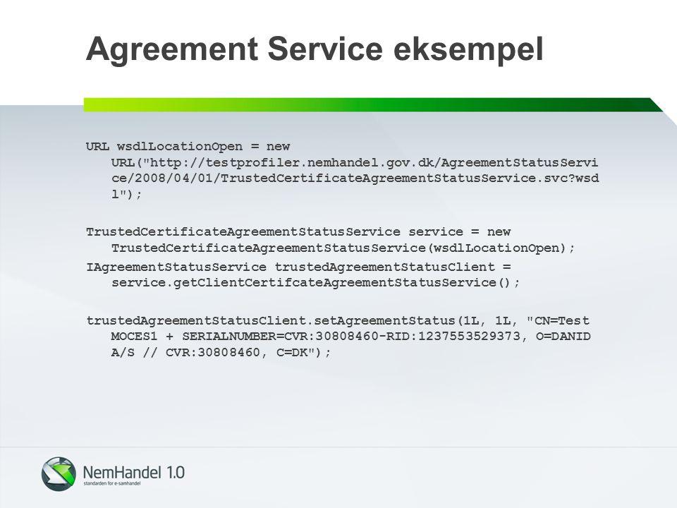 Agreement Service eksempel