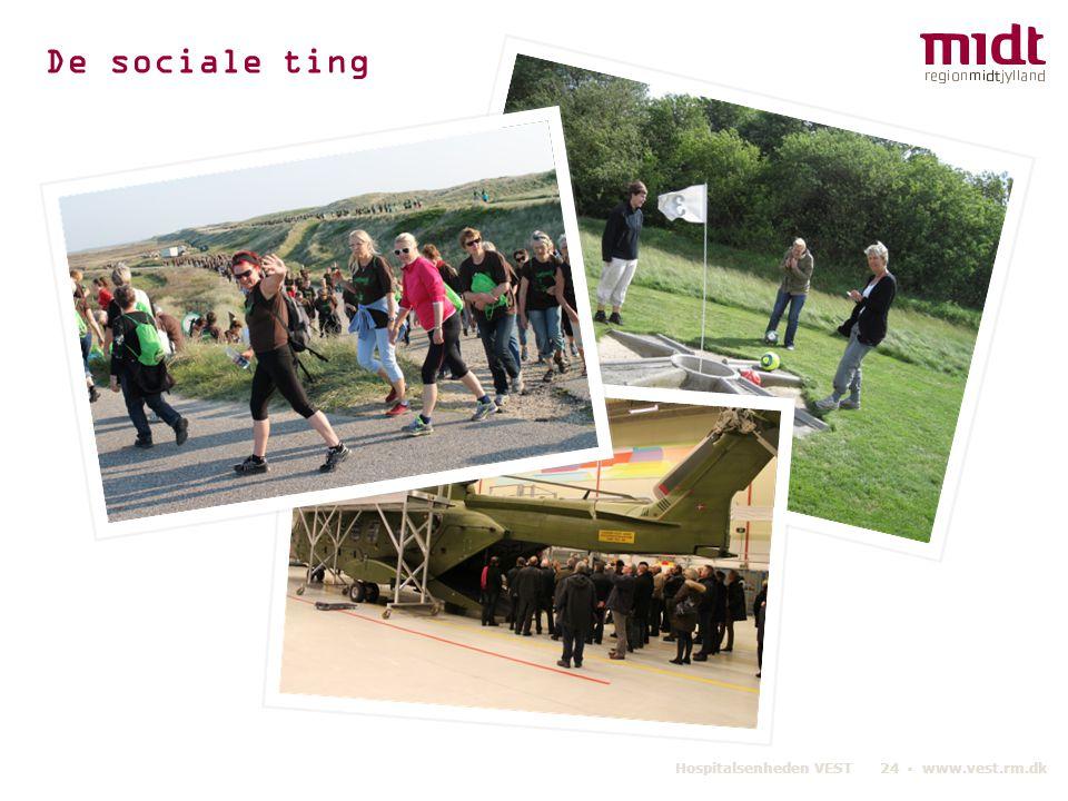 De sociale ting Hospitalsenheden VEST 24 ▪ www.vest.rm.dk