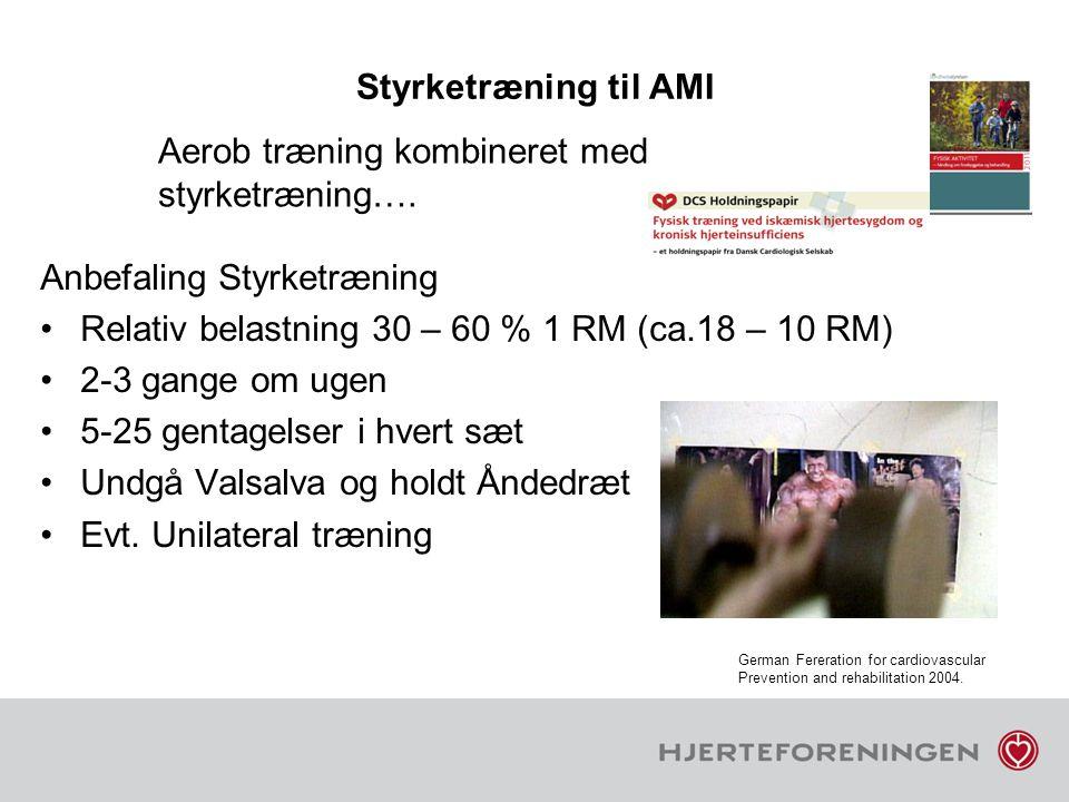 Aerob træning kombineret med styrketræning….