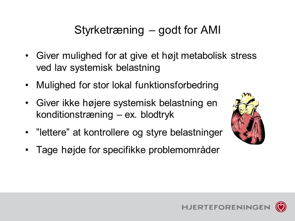 Styrketræning – godt for AMI