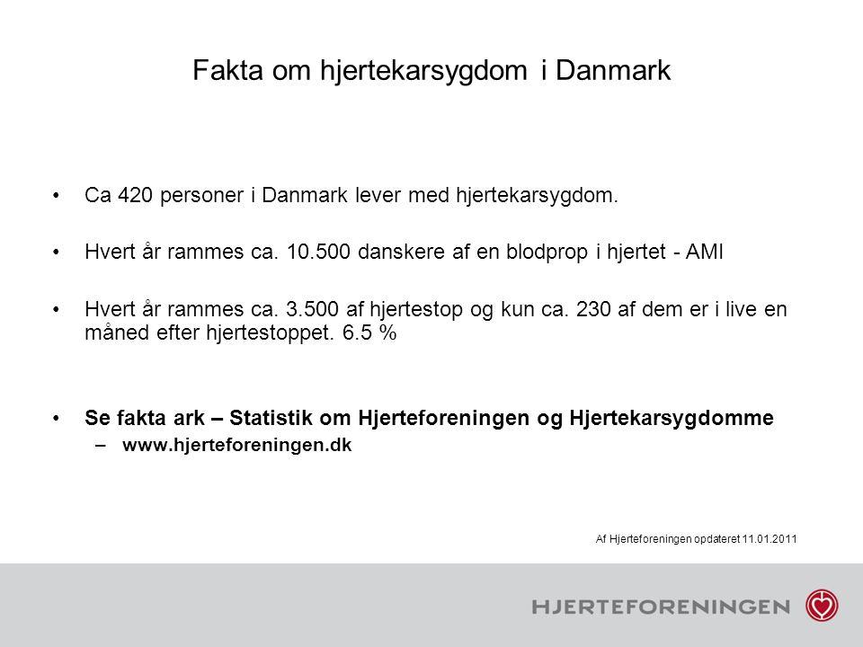Fakta om hjertekarsygdom i Danmark