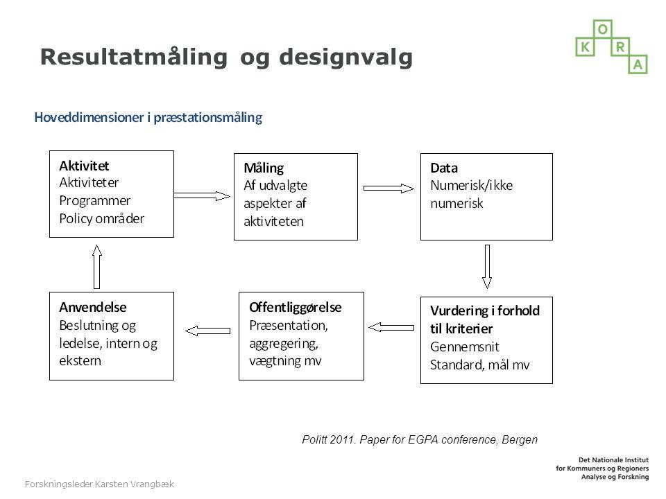 Resultatmåling og designvalg