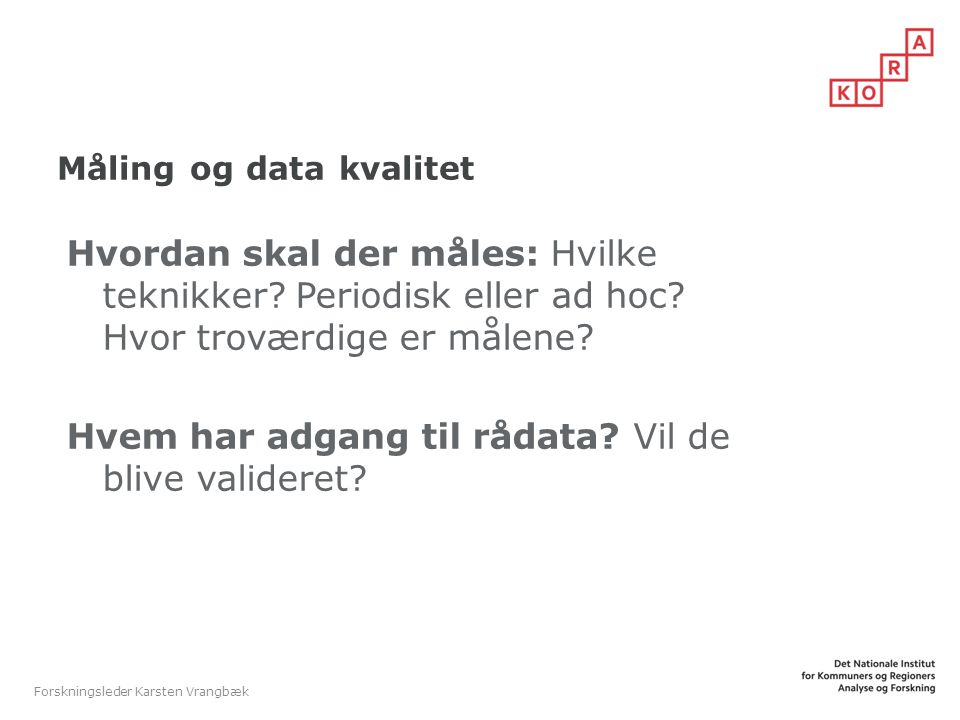 Måling og data kvalitet