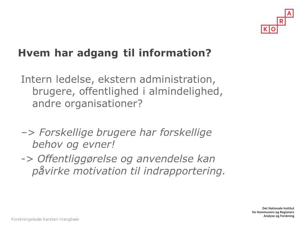 Hvem har adgang til information