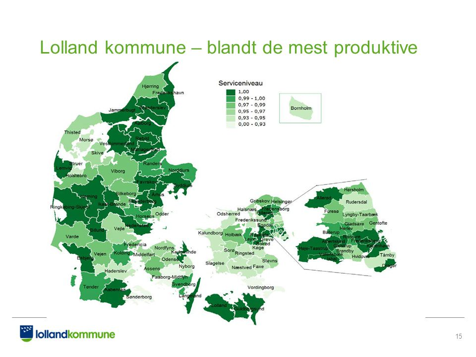 Lolland kommune – blandt de mest produktive