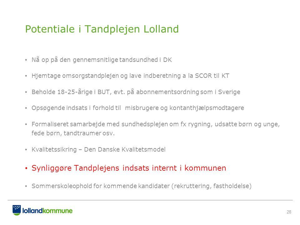 Potentiale i Tandplejen Lolland