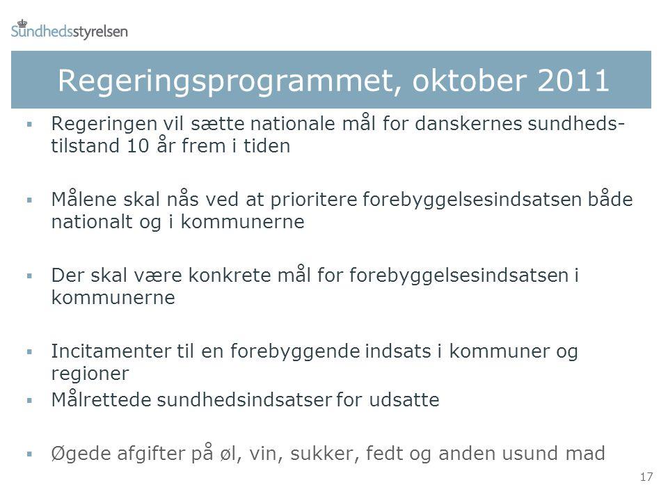 nationale mål for danskernes sundhed