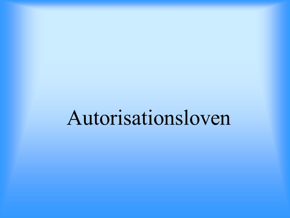 Autorisationsloven