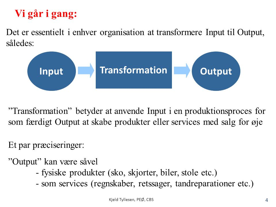Input Transformation Output