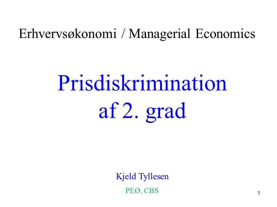 Prisdiskrimination af 2. grad
