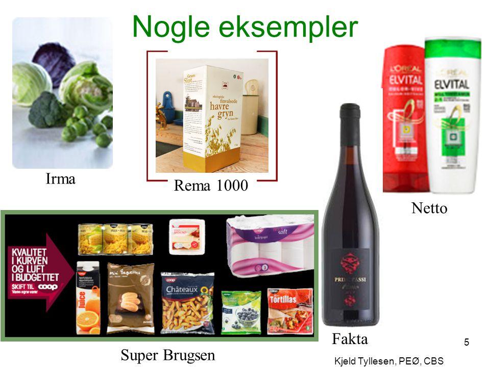 Nogle eksempler Irma Rema 1000 Netto Fakta Super Brugsen