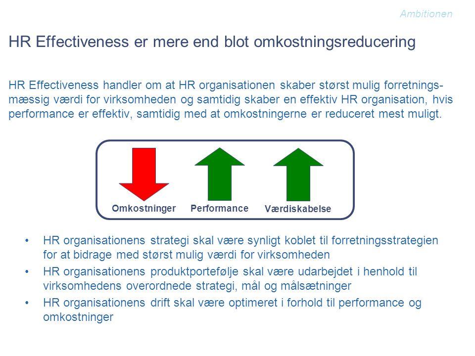 HR Effectiveness er mere end blot omkostningsreducering