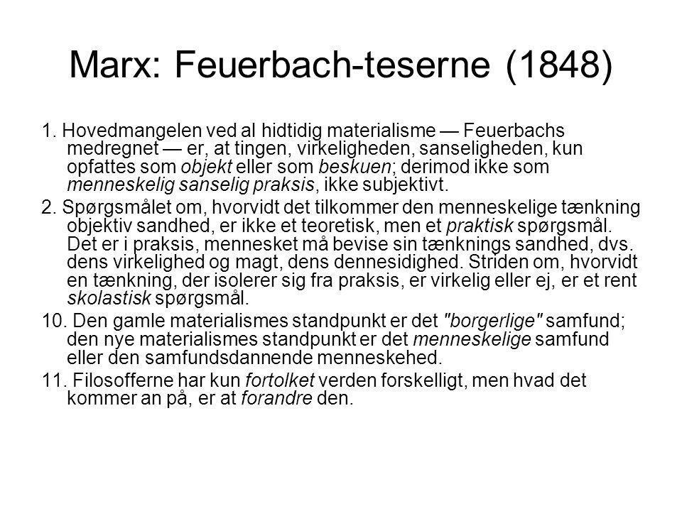 Marx: Feuerbach-teserne (1848)