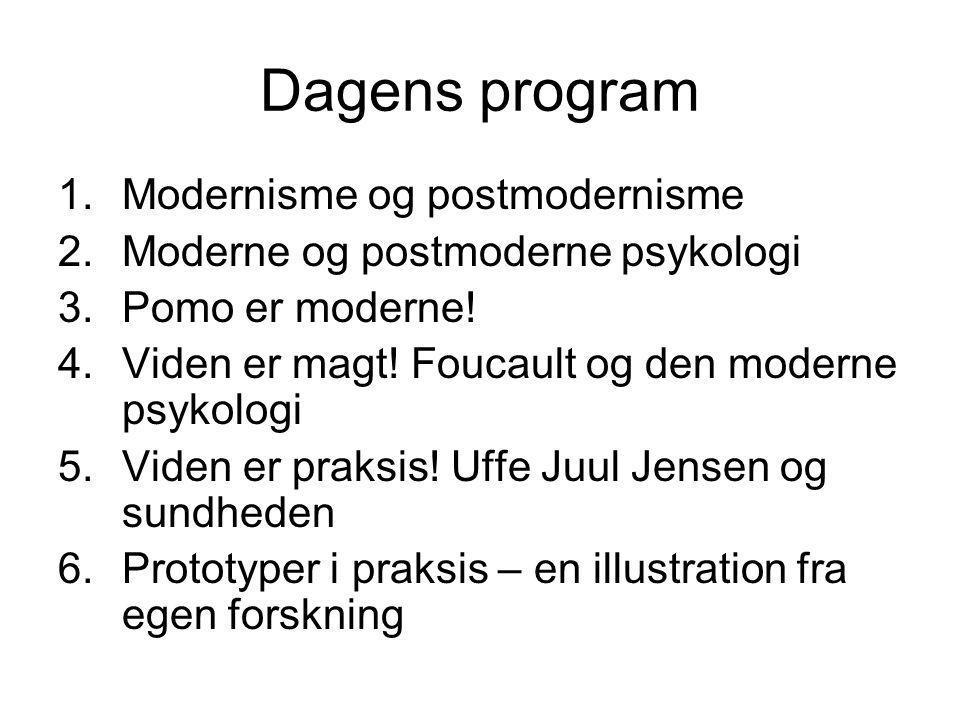 Dagens program Modernisme og postmodernisme
