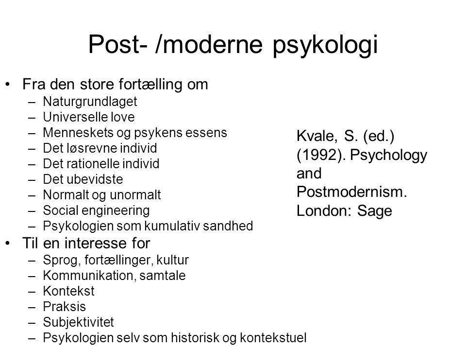 Post- /moderne psykologi