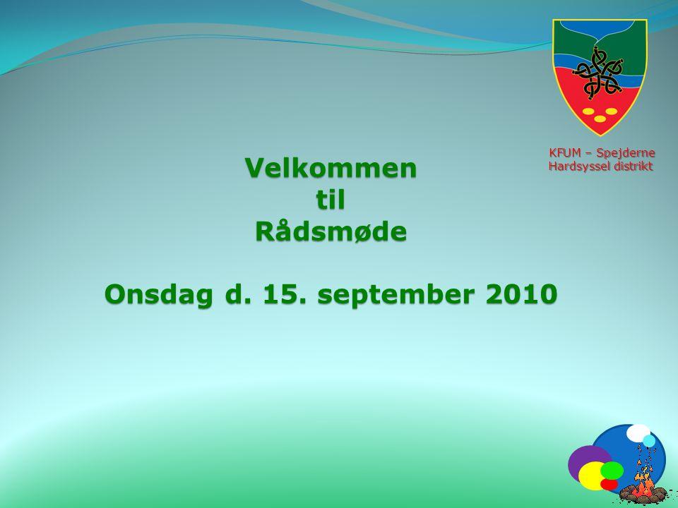 Velkommen til Rådsmøde Onsdag d. 15. september 2010