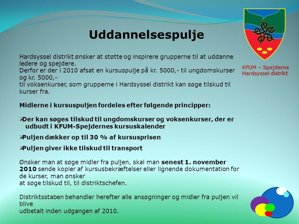 KFUM – Spejderne Hardsyssel distrikt. Uddannelsespulje.