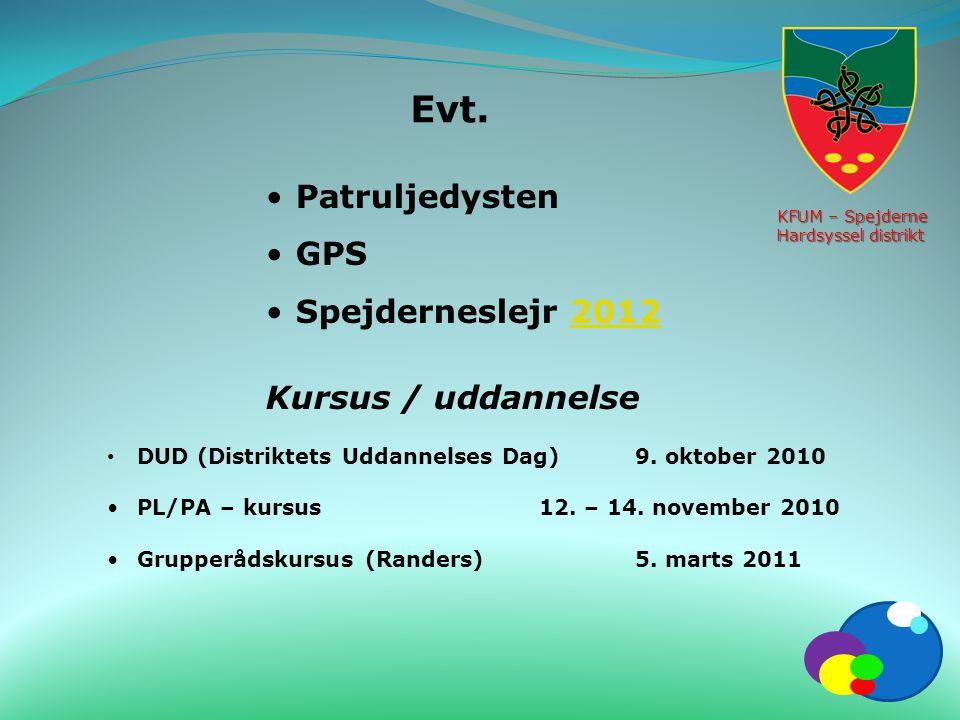 Evt. Patruljedysten GPS Spejderneslejr 2012 Kursus / uddannelse
