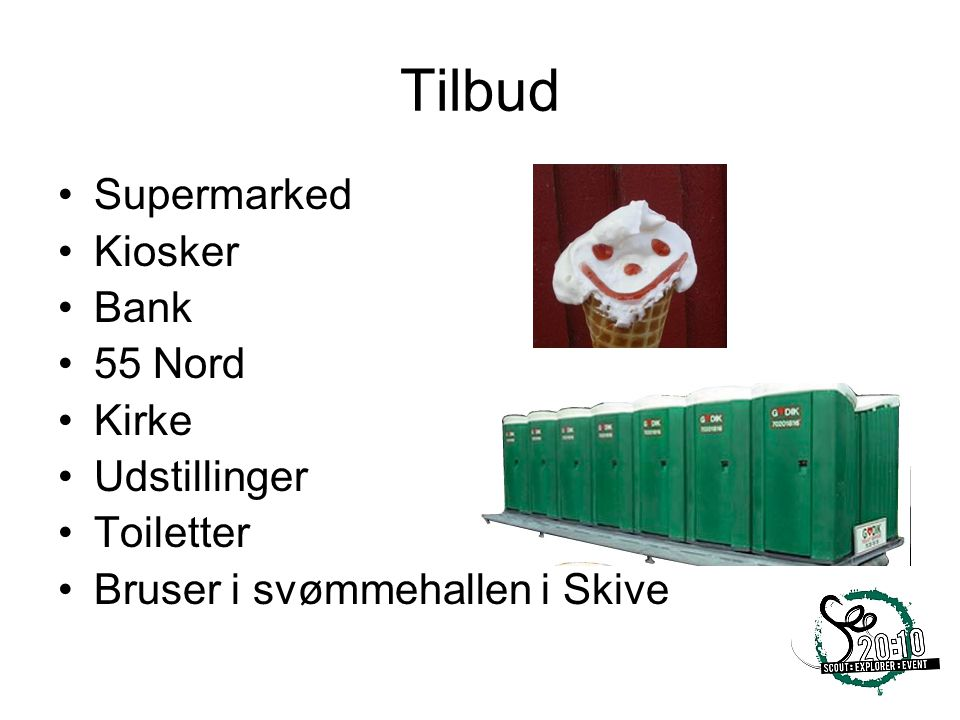 Tilbud Supermarked Kiosker Bank 55 Nord Kirke Udstillinger Toiletter