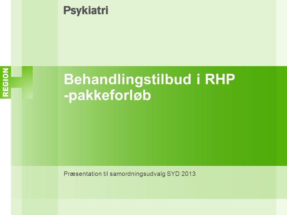 Behandlingstilbud i RHP -pakkeforløb