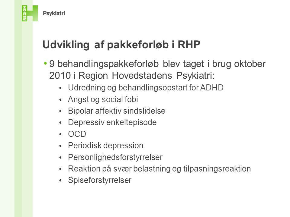Udvikling af pakkeforløb i RHP