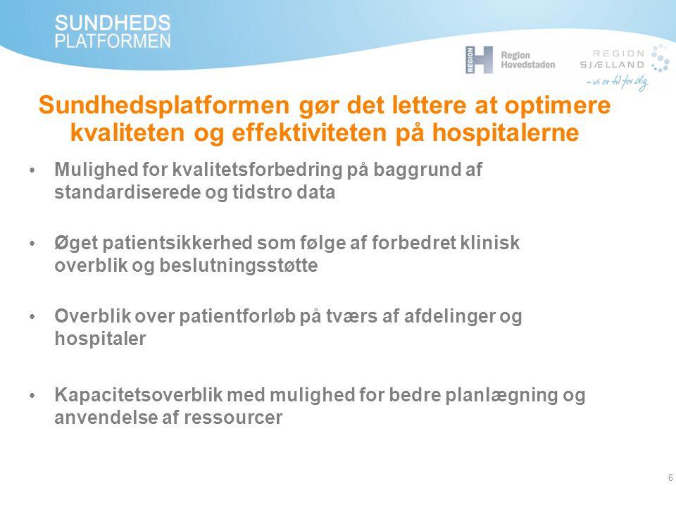 Sundhedsplatformen gør det lettere at optimere kvaliteten og effektiviteten på hospitalerne
