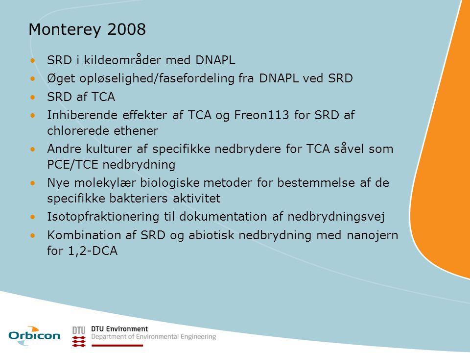 Monterey 2008 SRD i kildeområder med DNAPL
