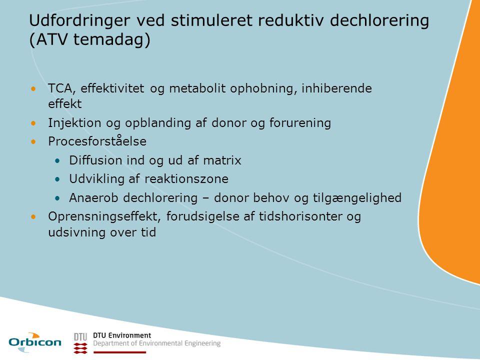 Udfordringer ved stimuleret reduktiv dechlorering (ATV temadag)