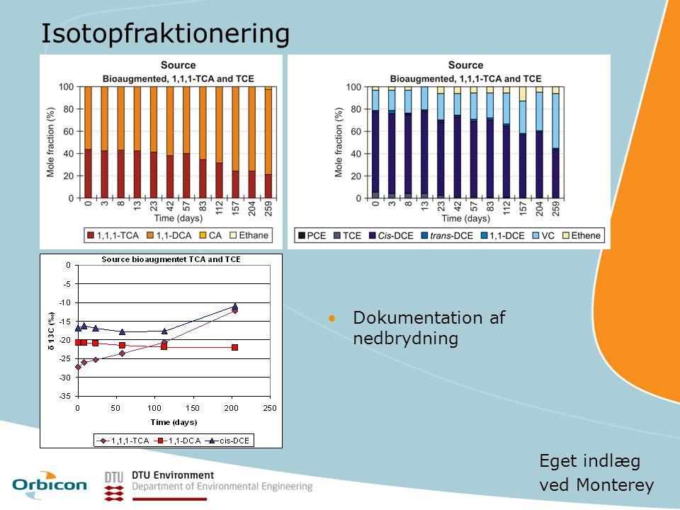 Isotopfraktionering Dokumentation af nedbrydning Eget indlæg