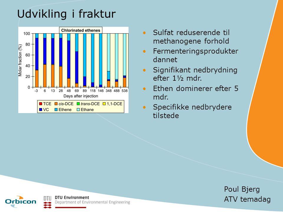 Udvikling i fraktur Sulfat reduserende til methanogene forhold