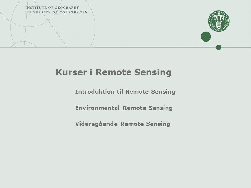 Kurser i Remote Sensing