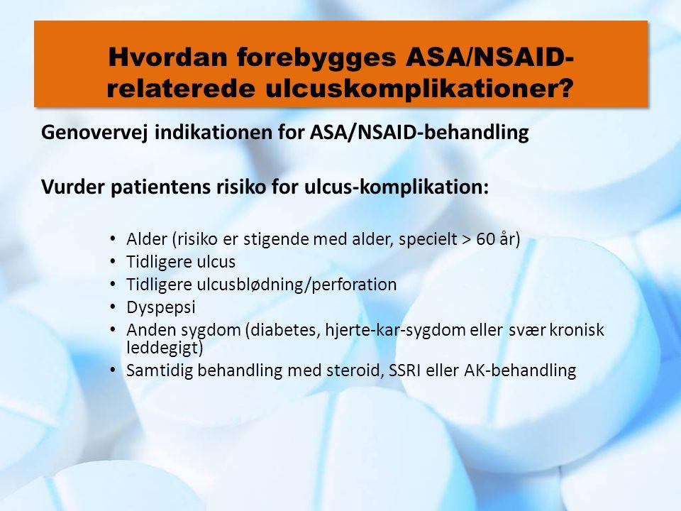 Hvordan forebygges ASA/NSAID-relaterede ulcuskomplikationer