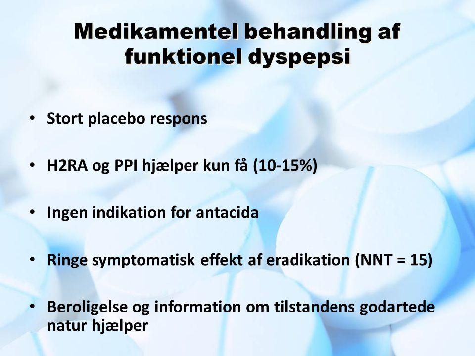 Medikamentel behandling af funktionel dyspepsi