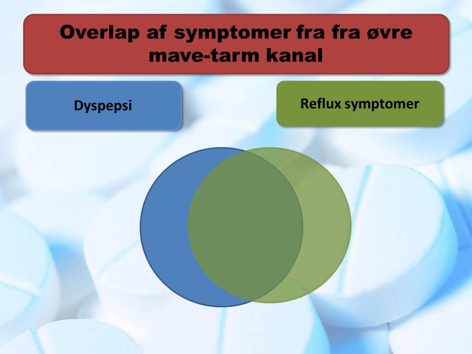Overlap af symptomer fra fra øvre mave-tarm kanal