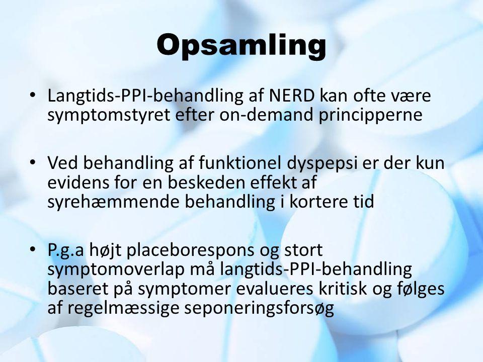 Opsamling Langtids-PPI-behandling af NERD kan ofte være symptomstyret efter on-demand principperne.