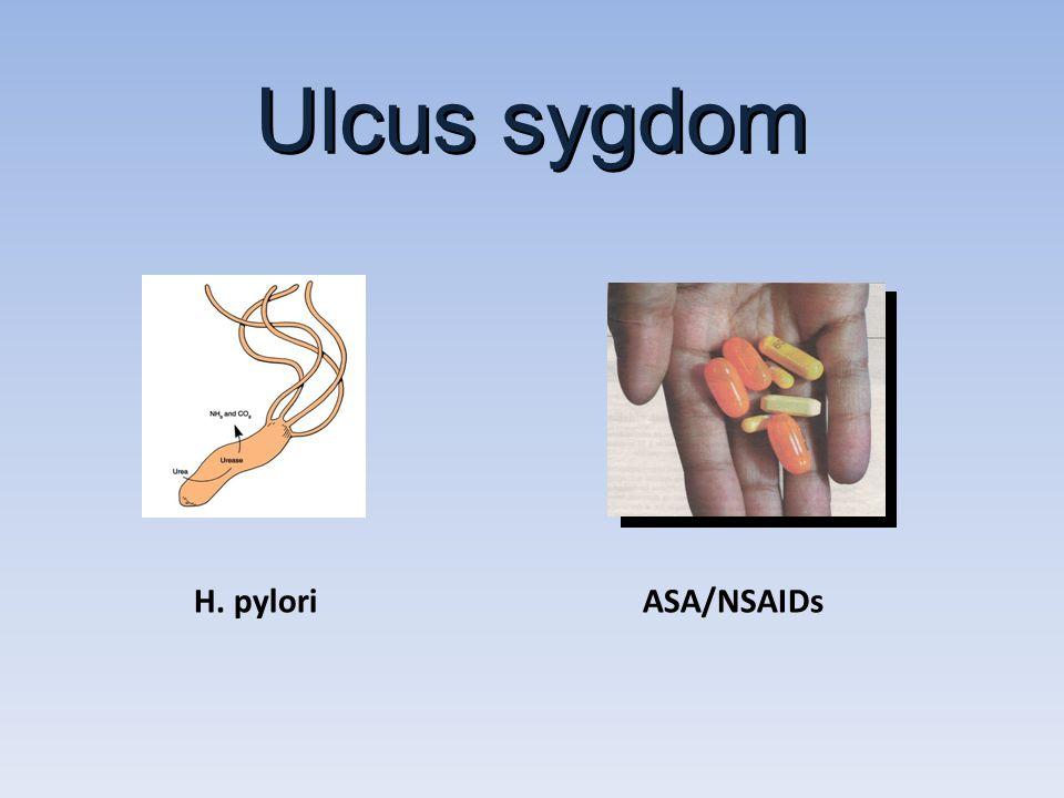 Ulcus sygdom H. pylori ASA/NSAIDs