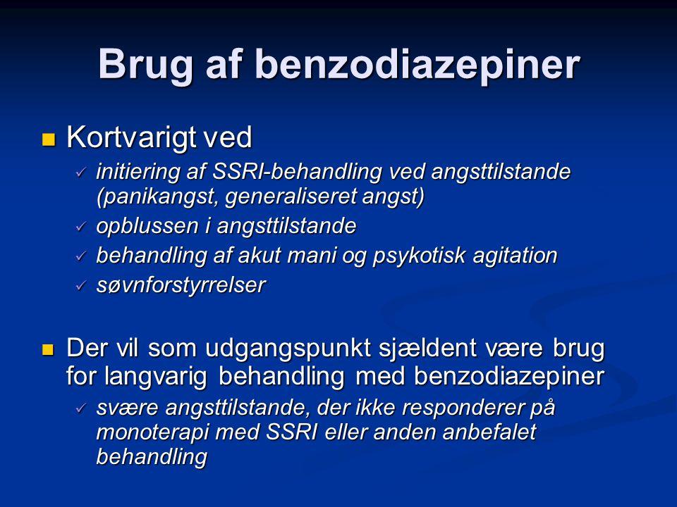Brug af benzodiazepiner