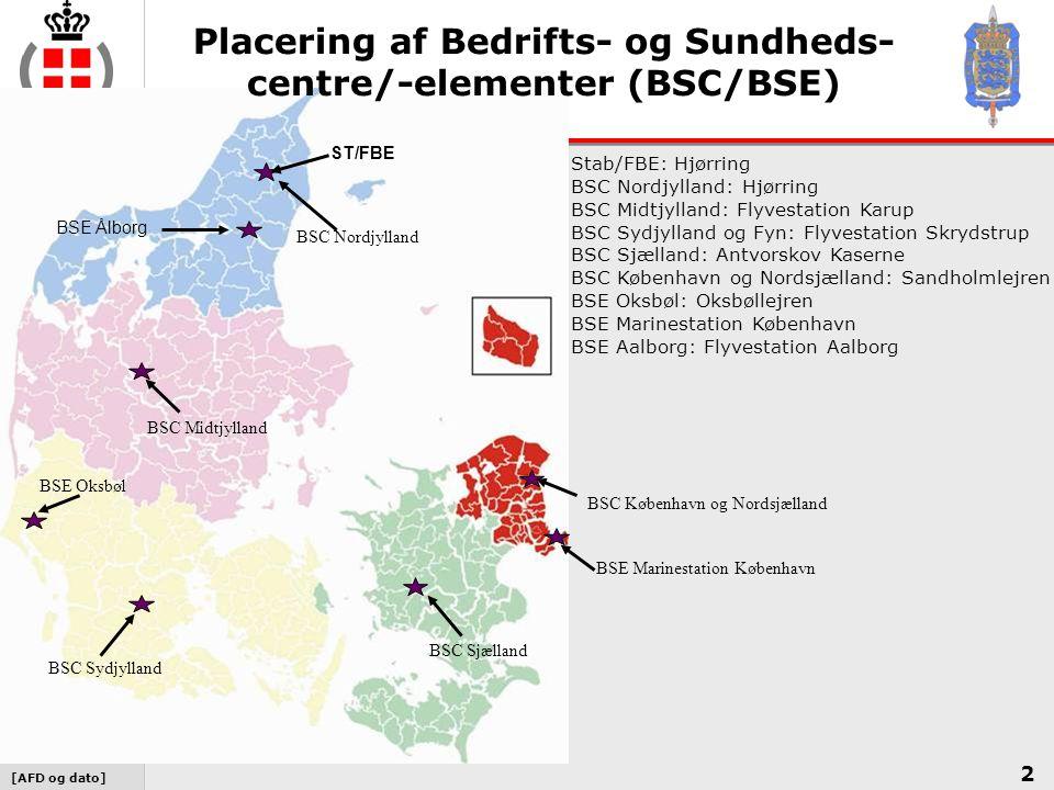 Placering af Bedrifts- og Sundheds- centre/-elementer (BSC/BSE)