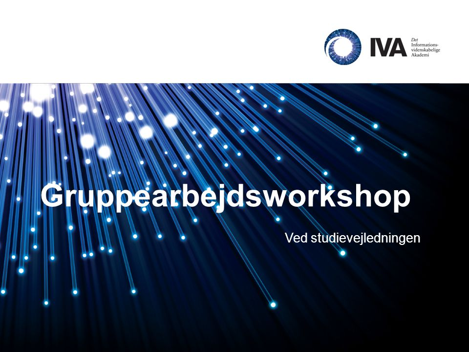 Gruppearbejdsworkshop
