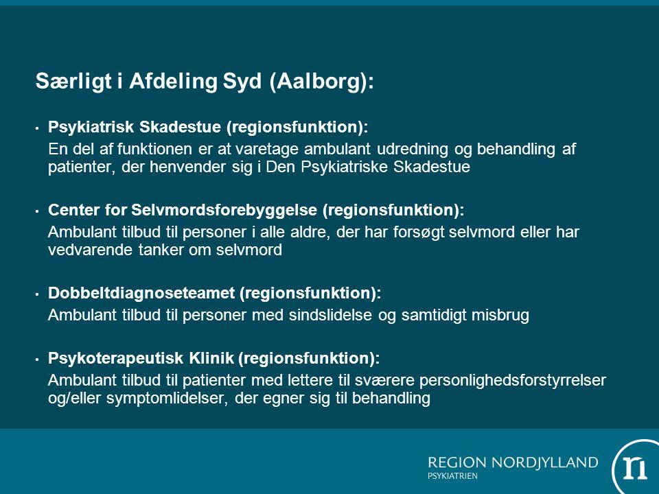 Særligt i Afdeling Syd (Aalborg):