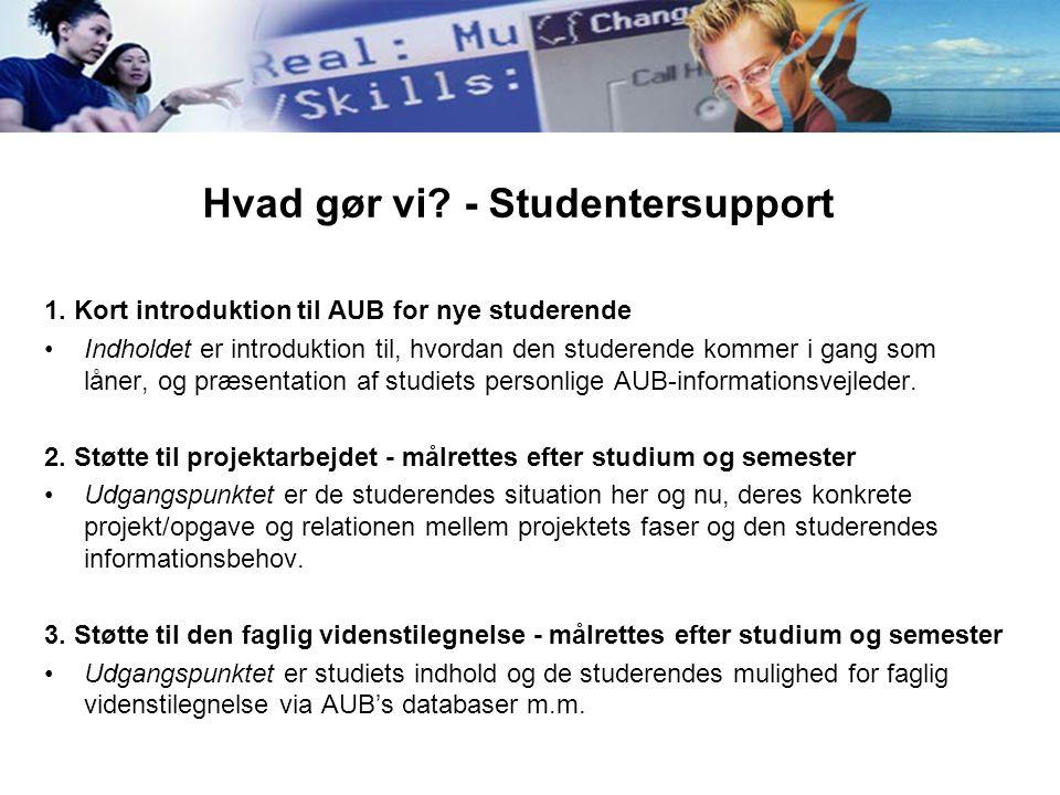 Hvad gør vi - Studentersupport
