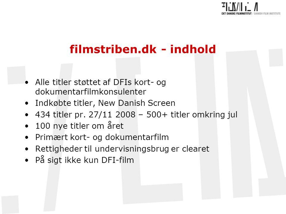 filmstriben.dk - indhold