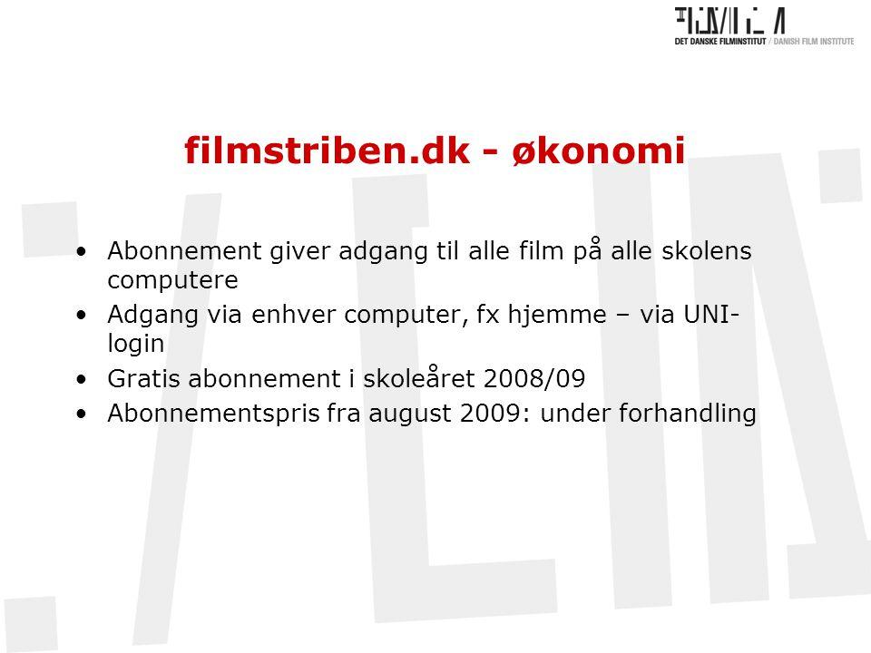 filmstriben.dk - økonomi