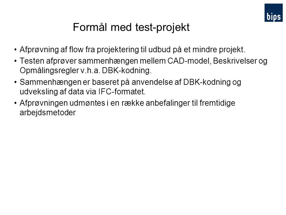 Formål med test-projekt