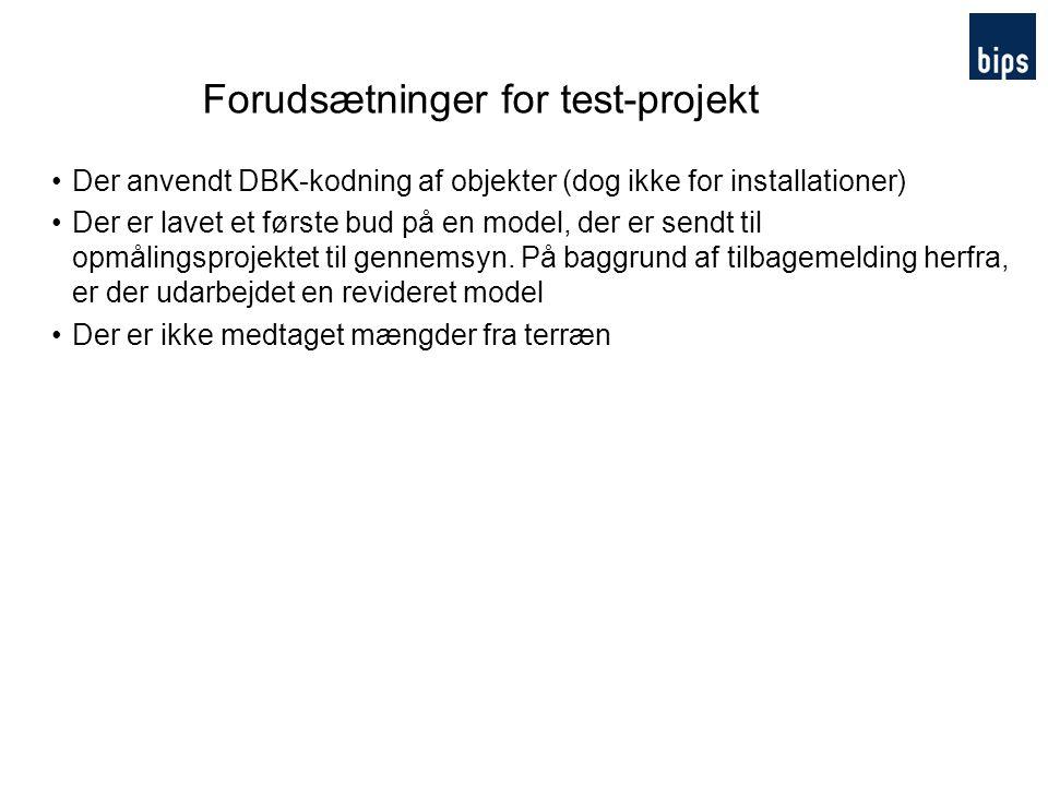 Forudsætninger for test-projekt