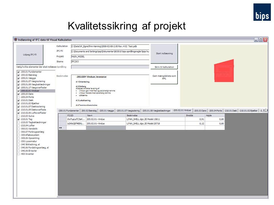 Kvalitetssikring af projekt