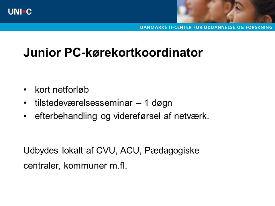 Junior PC-kørekortkoordinator