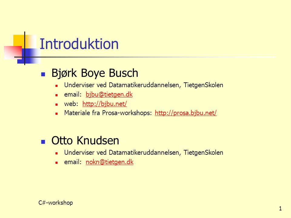 Introduktion Bjørk Boye Busch Otto Knudsen